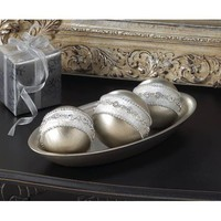 Embellished Silver Display Balls Accent