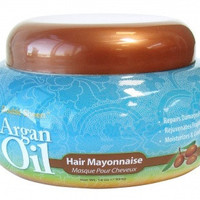A deep conditioning Argan Oil Hair Mayonnaise Hair Mask, Repairs damaged hair, Rejuvenates fragile hair, Moisturizes and conditions
