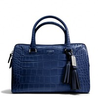 Coach :: New Legacy Haley Satchel In Embossed Leather