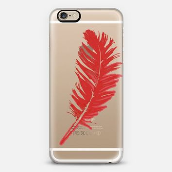Red feather iPhone 6s case by Julia Grifol Diseñadora Modas-grafica | Casetify