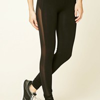 Active Side Mesh-Panel Leggings