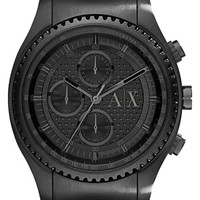 Men's AX Armani Exchange Chronograph Perforated Bracelet Watch, 45mm - Black
