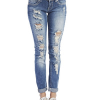 Almost Famous Destroyed Jeans | Wet Seal