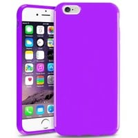 INSTEN Slim Fit Anti-Shock Protection TPU Case for Apple iPhone 6 - Retail Packaging - Purple