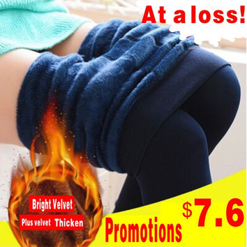 2015 NEW plus cashmere leggings women girls Casual Warm Winter Bright Velvet Knitted Thick Slim Legging Super Elastic = 1946886212
