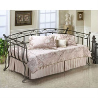Twin Rope Wire Metal Daybed with Link Spring in Black Gold Finish