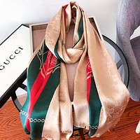 GUCCI Women Fashion New Stripe More Letter Print Scarf No Box