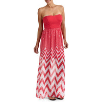 Walmart: Stitch Women's Strapless Chevron Stripe Maxi Dress