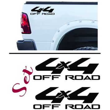 4 x 4 Off Road Toyota Style Bedside Vinyl Graphic Decals Aftermarket, SET OF 2 - Style 020