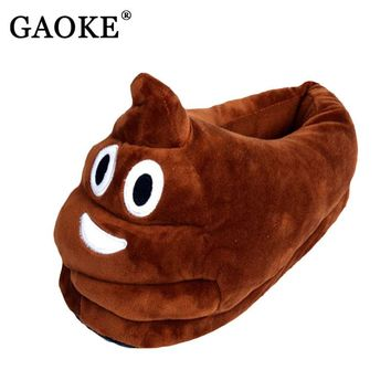 Lovely Emoji Valentine Gift Poo Plush Slippers Expression Men Women Home Slipper Children Shit Warm House Smiley Emoticon Shoes