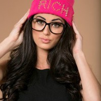 The Rich Beanie in Pink |  | shopLUVB.com