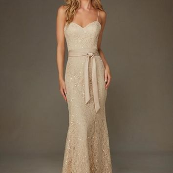 Morilee Bridesmaids 127 Floor Length Lace Dress