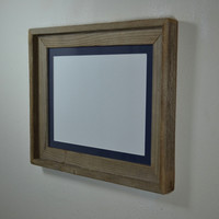11x14 earth friendly wood picture frame with mat.