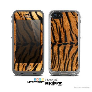 The Real Tiger Print Texture Skin for the Apple iPhone 5c LifeProof Case