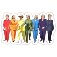 'Hillary Clinton Pantsuit' Sticker by Olivia Buffington