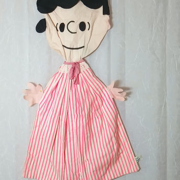 Vintage Peanuts Laundry Bag - Lucy - By Simon Simple Originals 1969 Kids Room Collectibles Charlie Brown Snoopy