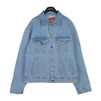 Basic Washed Blue Denim Jacket