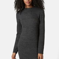 Women's Topshop Long Sleeve Body-Con Dress,