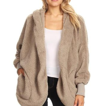 Fuzzy Faux Fur Jacket - Indian River
