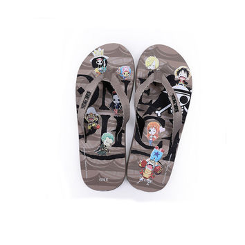 Stylish Anime Home Cartoons Couple Slippers [4918325316]