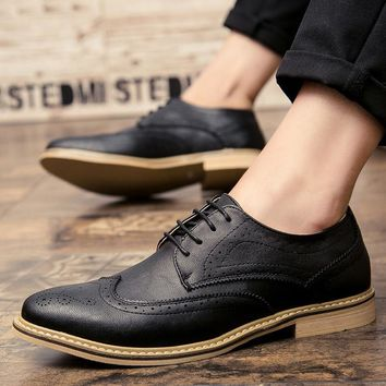 Merkmak Casual Businesss Oxfords Men's Shoes 2017 Fashion Breathable