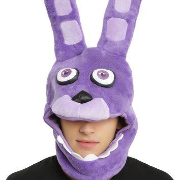 Licensed cool Five Nights At Freddy's Bonnie Bunny Ear Plush Costume Mask Hot Topic Exclusive