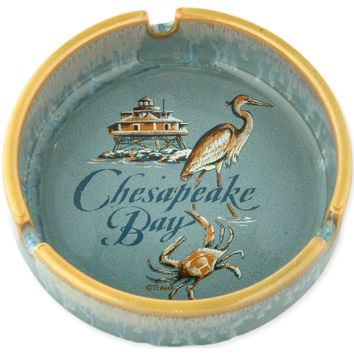 ATCB2 Ashtray Drip Glaze Chesapeake Bay