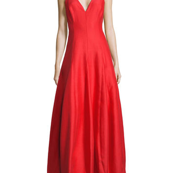 Halston Heritage Structured Red Gown