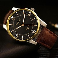 Men watches Top Luxury Men Business Clock Male Quartz Wrist watch Quartz-watch Gold Black