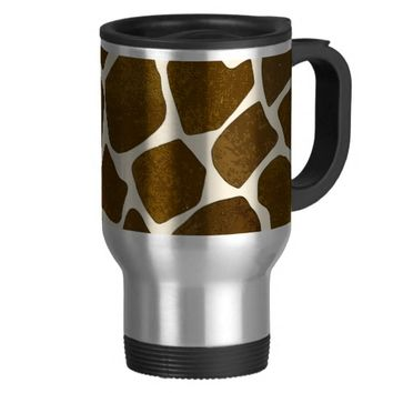 Customizable Giraffe Print Coffee Mug