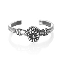 Flower Sterling Silver Toe Ring