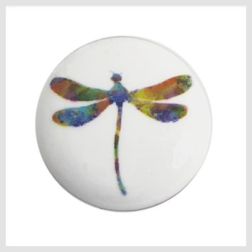 """Painted Enamel Dragonfly 20mm 3/4"""""""