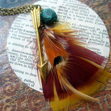 arrow and feather necklace