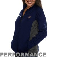 Antigua St. Louis Blues Ladies Motion Full Zip Jacket - Navy Blue