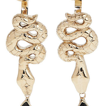 Etro - Gold-tone crystal earrings