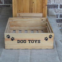 Dog Toy Crate, Wooden Crate, Dog Toy Holder