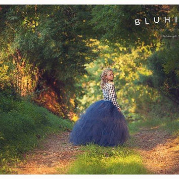 Rustic Couture - Sewn Tulle Skirt - in your choice of colors and length - Shabby Chic Sewn Tutu - For Portraits, Flower girls