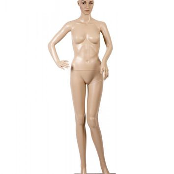Female Full Body Realistic Mannequin Display Head Turns Dress Form w/Base F82