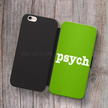 Wallet Leather Case for iPhone 4s 5s 5C SE 6S Plus Case, Samsung S3 S4 S5 S6 S7 Edge Note 3 4 5 PSYCH Cases