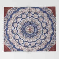 A Glorious Morning (Mandala) Throw Blanket by Octavia Soldani | Society6