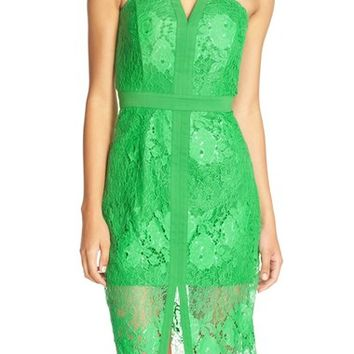 Adelyn Rae Strapless Lace Sheath Dress | Nordstrom