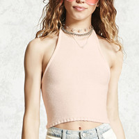 Halter Knit Crop Top