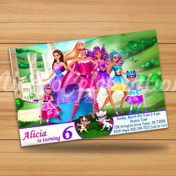 Barbie Princess Power Design Invitation - Digital File