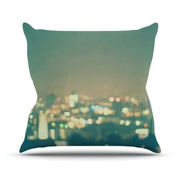 "Myan Soffia ""Anniversary"" City Lights Throw Pillow"