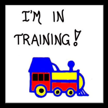 Train Magnet Quote - Railroad enthusiasts, Conductors, Engineers, locomotive, engine, primary colors