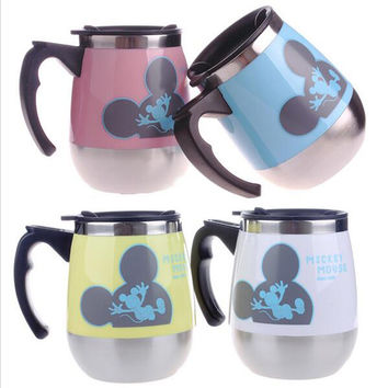 Stainless Steel Coffee Cup Cartoon Mickey Mouse Tea Cup Thermos Coffee Mugs Milk Thermo Mug Thermocup Tumbler Keep Cup