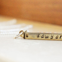 Personalized Swivel Bar Mommys Necklace - Custom Solid Brass Four Sided Spinning Bar Name Necklace - Mother of 4 Mothers Day GiftMothers Day