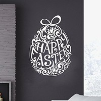 Wall Decals Easter Egg Decal Decorations Vinyl Sticker Nursery Home Decor Kitchen Cafe Restaurant Art Murals MS751
