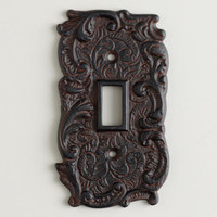 Single Cast Iron Switch Plate | World Market