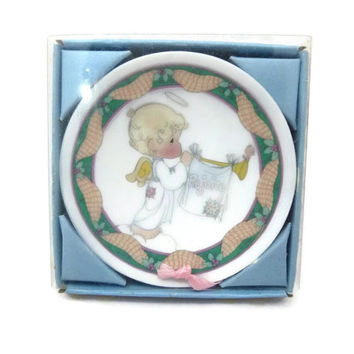 Enesco Precious Moments Rejoice Childrens Christmas Pageant Nativity Mini Plate Hanging Ornament 1993